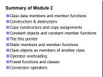 summary of module 2