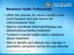 behavioral health professionals
