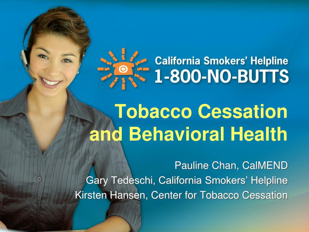 tobacco cessation and behavioral health l.