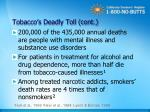 tobacco s deadly toll cont