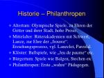 historie philanthropen