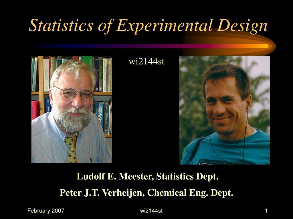 statistics of experimental design l.