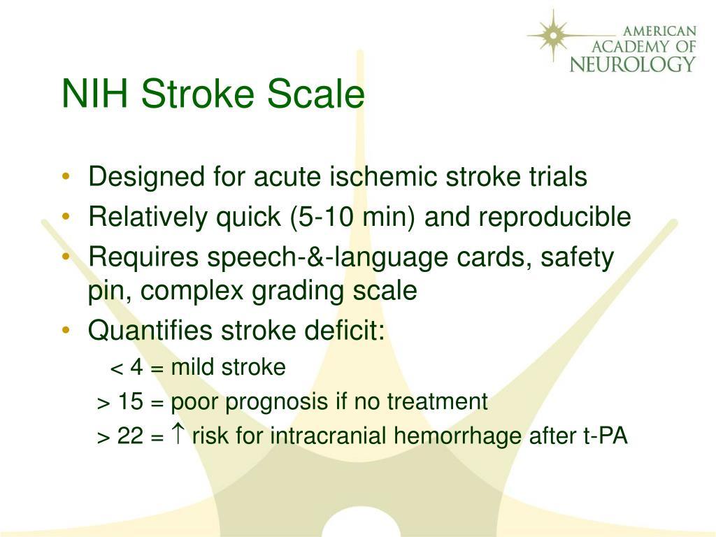 Nih Stroke Scale Certification Resume