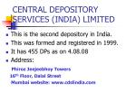 central depository services india limited
