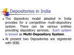depositories in india