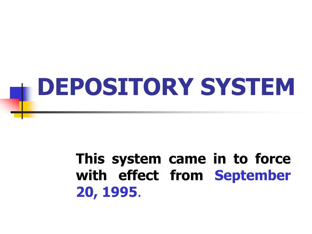 depository system l.