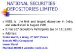national securities depositories limited