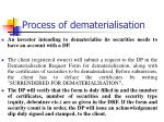 process of dematerialisation