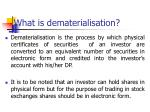 what is dematerialisation