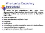 who can be depository participant