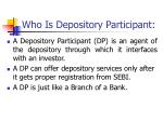 who is depository participant
