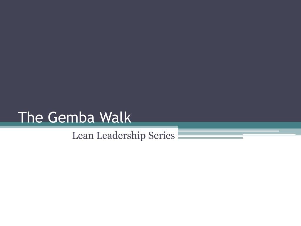 the gemba walk l.
