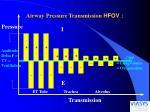 airway pressure transmission hfov