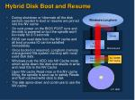 hybrid disk boot and resume