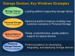 storage devices key windows strategies