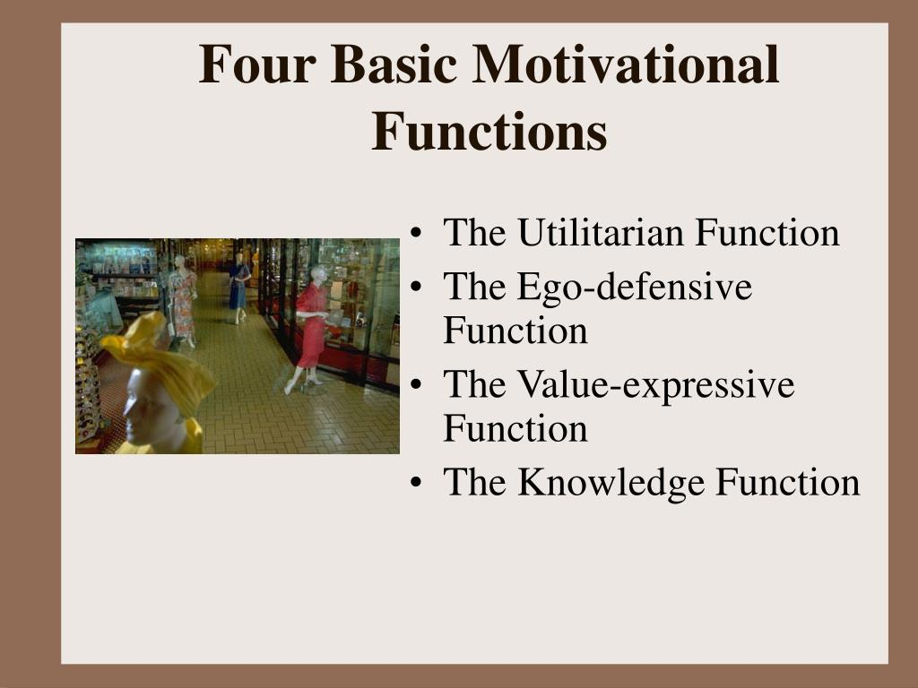 Four Basic Motivational Functions
