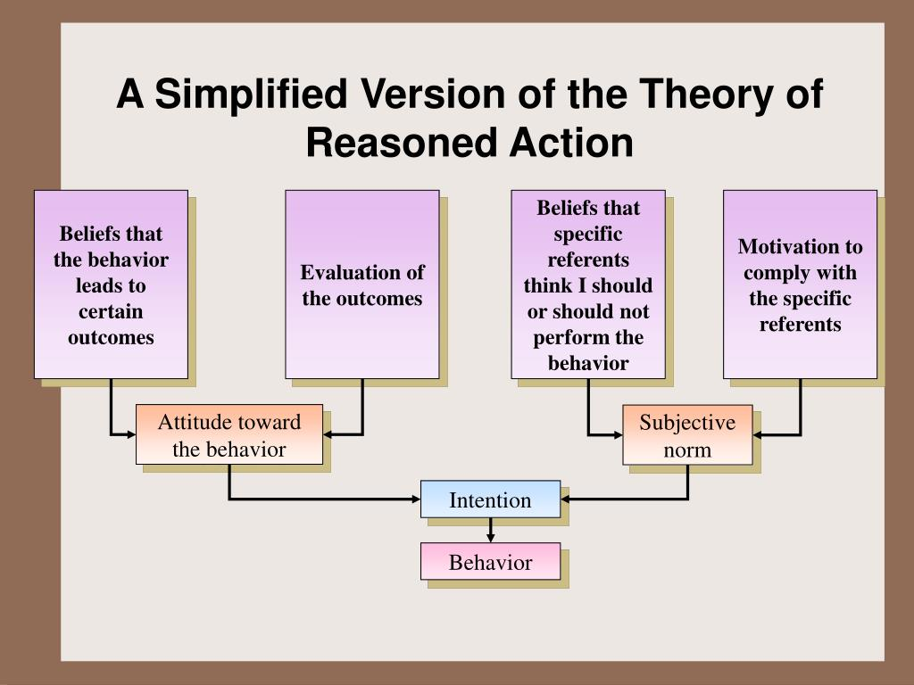 A Simplified Version of the Theory of Reasoned Action