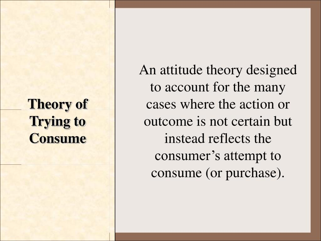 Theory of Trying to Consume