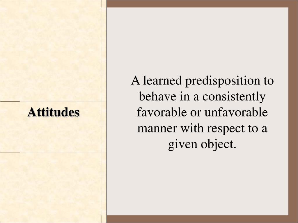 Attitudes