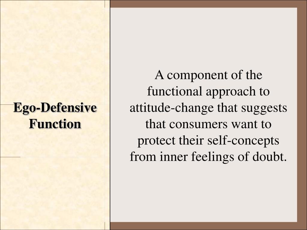 Ego-Defensive Function