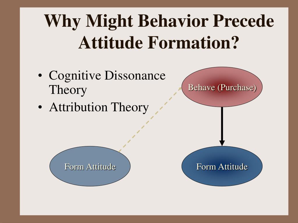 Why Might Behavior Precede Attitude Formation?