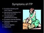 symptoms of itp