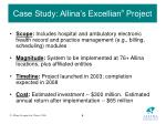 case study allina s excellian project