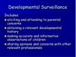 developmental surveillance9