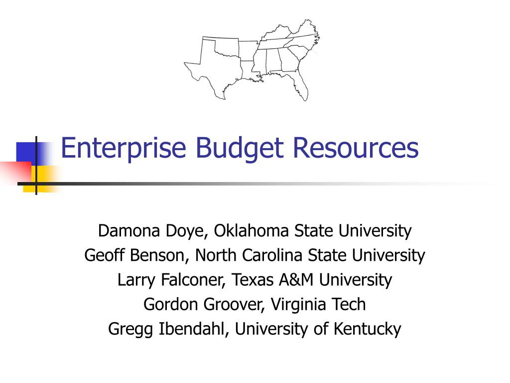 enterprise budget resources l.