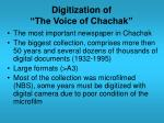 digitization of the voice of chachak