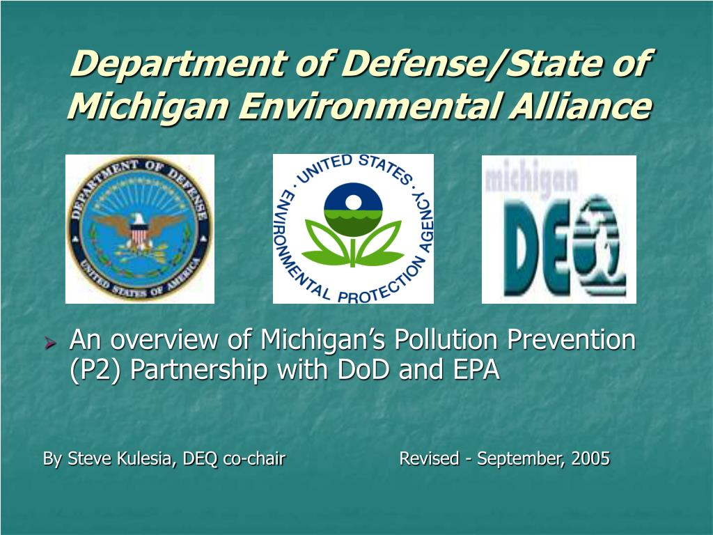 department of defense state of michigan environmental alliance l.