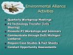 environmental alliance activities