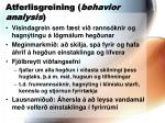 atferlisgreining behavior analysis