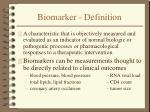 biomarker definition
