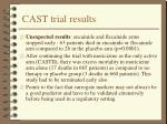 cast trial results