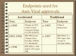 endpoints used for anti viral approvals