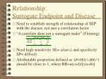 relationship surrogate endpoint and disease