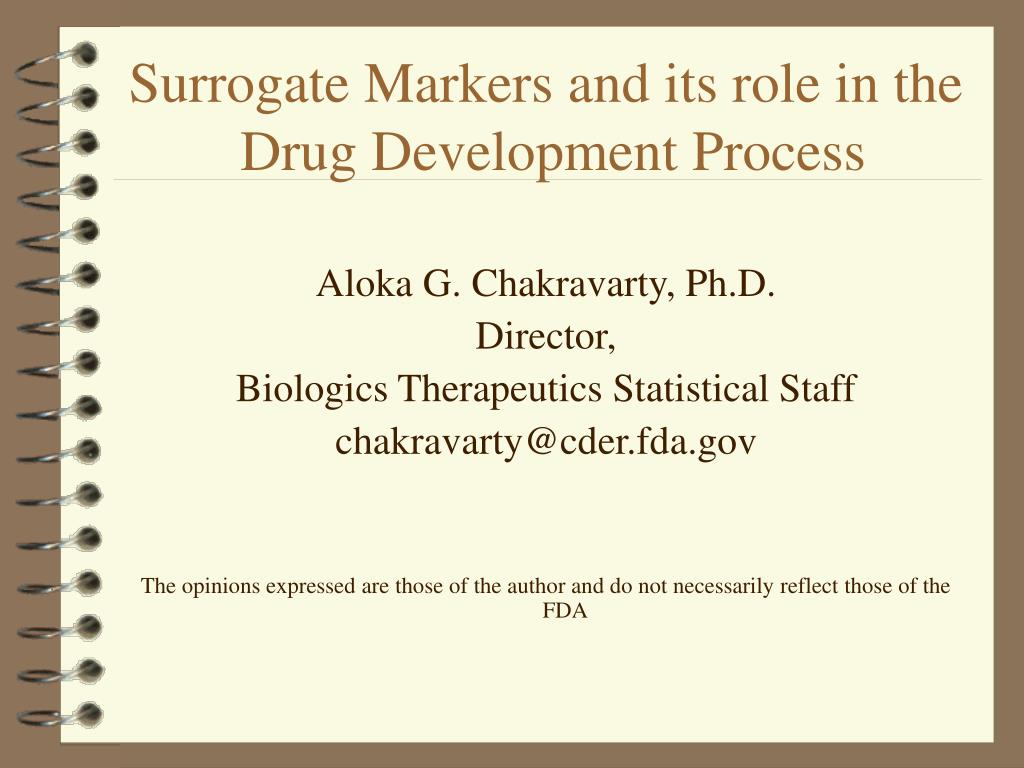 surrogate markers and its role in the drug development process l.