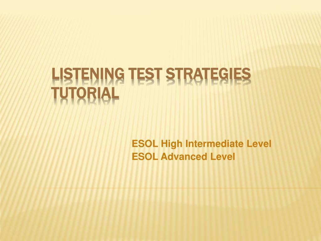 esol high intermediate level esol advanced level l.