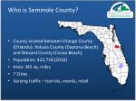 who is seminole county