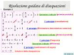risoluzione guidata di disequazioni27