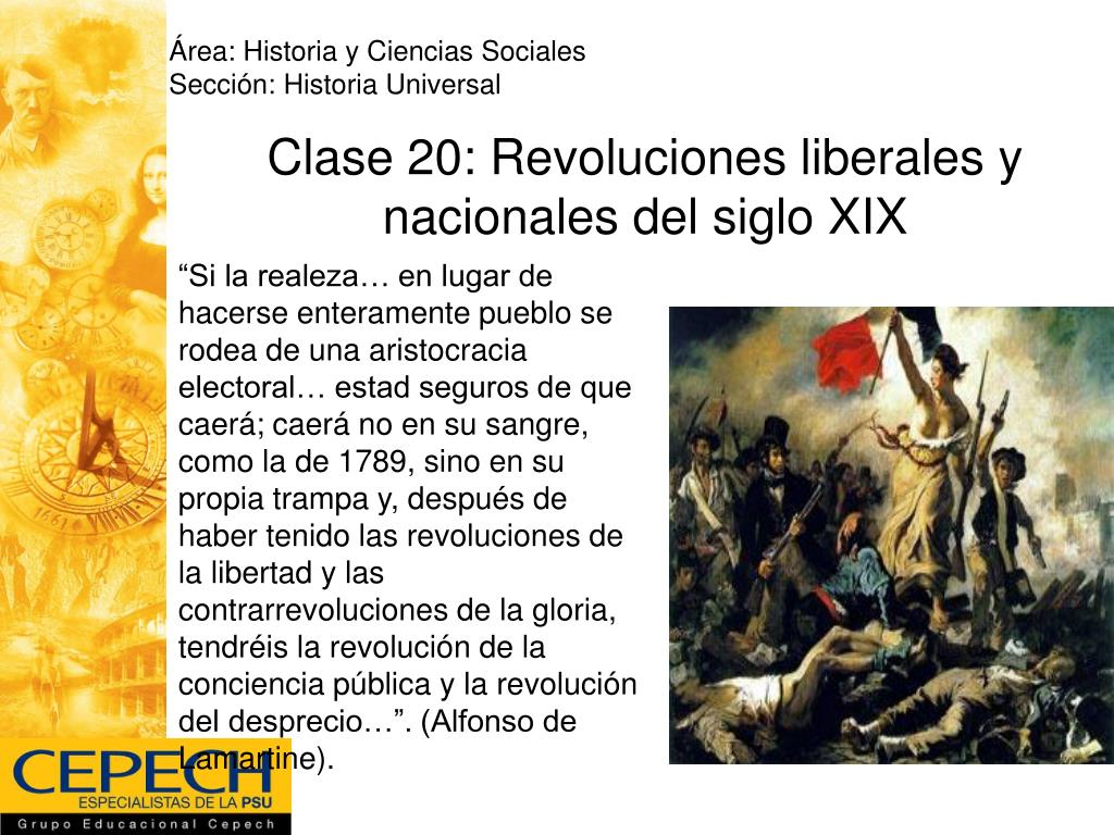 clase 20 revoluciones liberales y nacionales del siglo xix l.