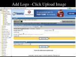 add logo click upload image