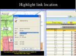 highlight link location