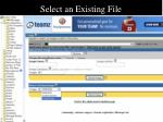 select an existing file31