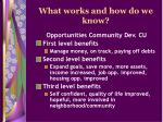 what works and how do we know13