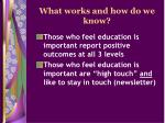 what works and how do we know14