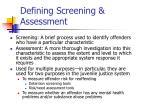 defining screening assessment