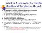 what is assessment for mental health and substance abuse