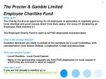 the procter gamble limited employee charities fund